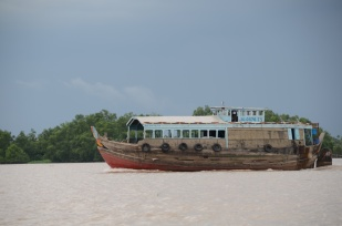 Transporting live fish on the Mekong Delta