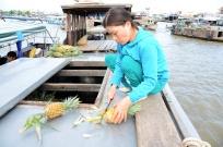 Pineapple Boat - My Tho Floating Market