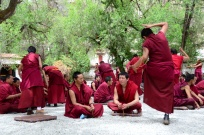 Sera Monastery debates about Buddhist doctrines.