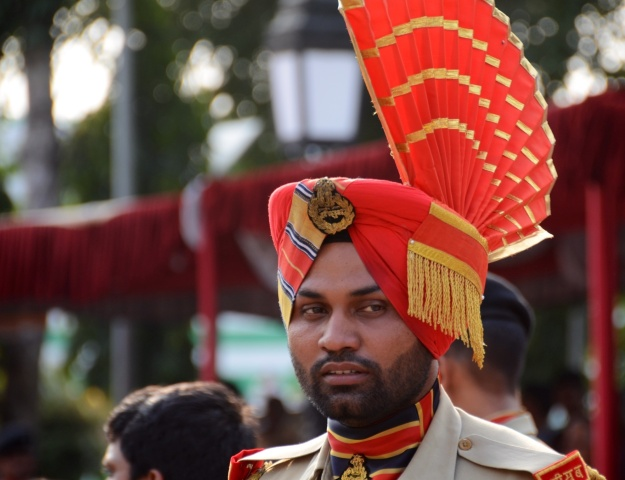 Indian military guard in the showdown
