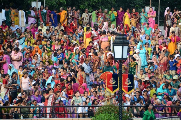 Indian women's section - so colorful - there was a mixed (family & friends section too)
