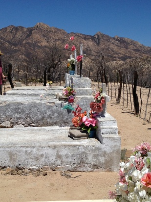 Cemetery with Mountains