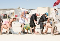 Spanking Line Burning Man 2015