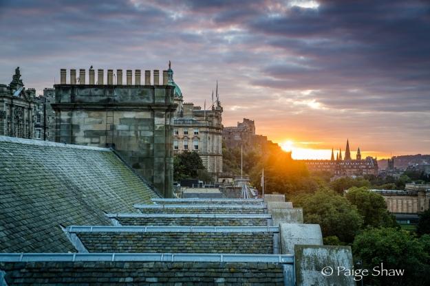 Setting Sun Edinburgh