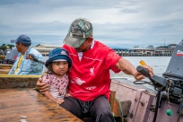 Taxi Driver and Daughter Water Village Brunei