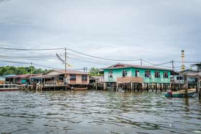 Kampong Ayer Water Village with Bird
