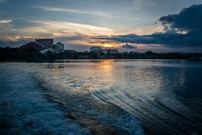 Crazy Setting Sun Sky Batam Indonesia