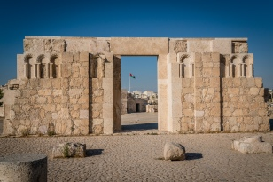 citadel-jordan-flag-amman-jordan