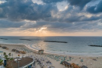 gordon-beach-sunset-tel-aviv