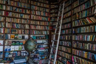 library-books-ladder-globe-nicosia-cyprus