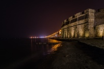 night-mediterrean-larnaca-fort-cyprus
