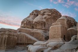 petra-rock-hillside-sunset-jordan