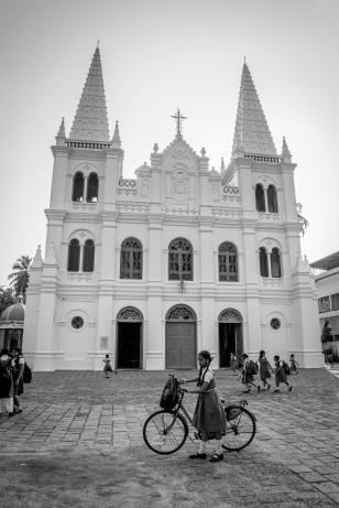 santa-cruz-cathedral-basilica-school-girl-kochi-india