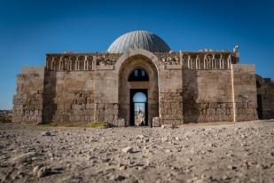 umayyad-palace-minaret-door-opening-amman-jordan