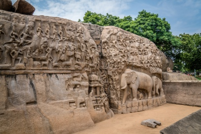 unesco-elephant-carvings-mahabalipuram-tamil-nadu-india