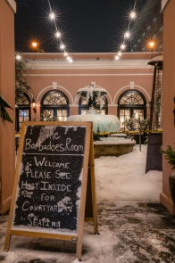 millshouse-courtyard-frozen-fountain-snow-night-charleston