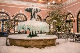millshouse-frozen-fountain-snow-night-charleston